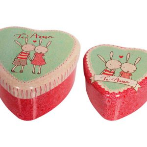 latas corazon rabbit set 2 maileg