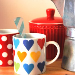 taza café corazon colores inhala coffee granollers