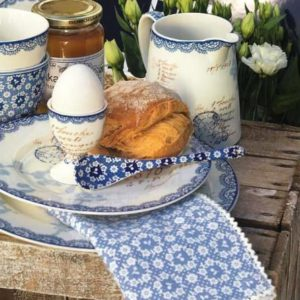 servilleta fay blue greengate 40 x 40 cm. inhala coffee granollers