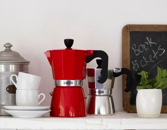 Comprar cafetera moka red per 6 tasses de la cafeti re inhala - Cafetera moka ...